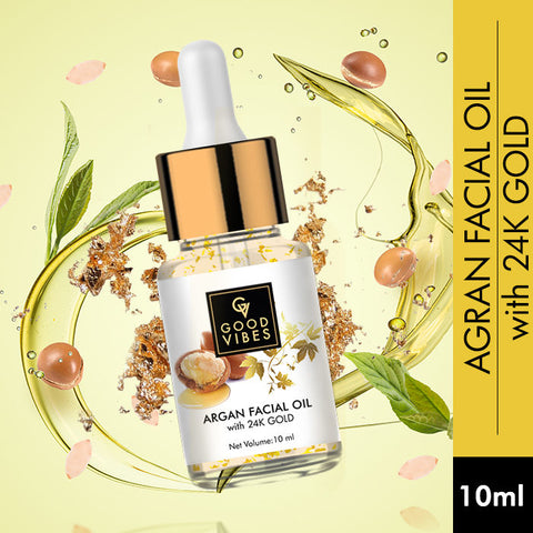 Good Vibes Argan Facial Oil with 24K Gold (10 ml)