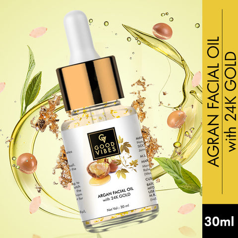 Good Vibes Argan Facial Oil with 24K Gold (30 ml)