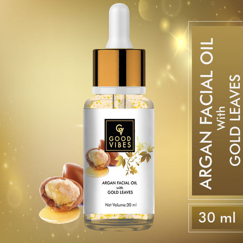 Good Vibes Argan Facial Oil with Gold Leaves (30 ml)