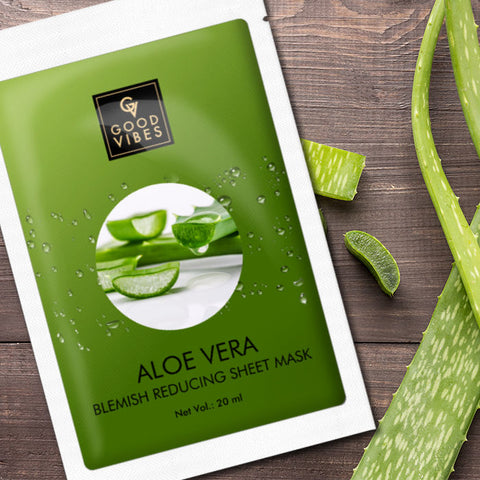 Good Vibes Blemish Controlling Sheet Mask - Aloe Vera (20 ml)