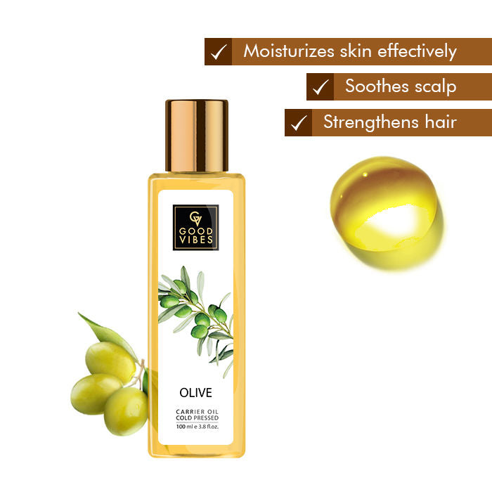 Good Vibes Coldpressed Carrier Oil - Olive (100 ml)