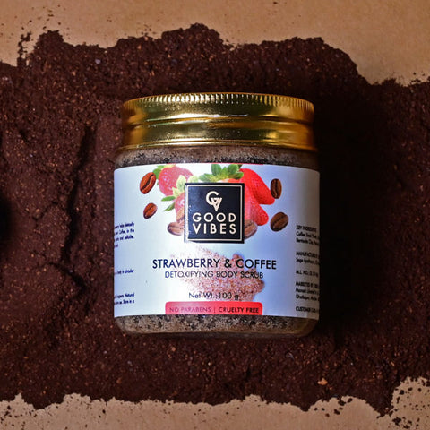 Good Vibes Detoxifying Body Scrub - Strawberry & Coffee (100 g)