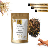 Good Vibes Plus Relaxing + Stress Relieving Green Tea - Cinnamon + Valerian Root (50 g)