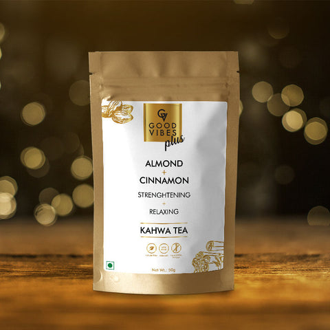 Good Vibes Plus Strenghtening + Relaxing Kawah Tea - Almond + Cinnamon (50 g)