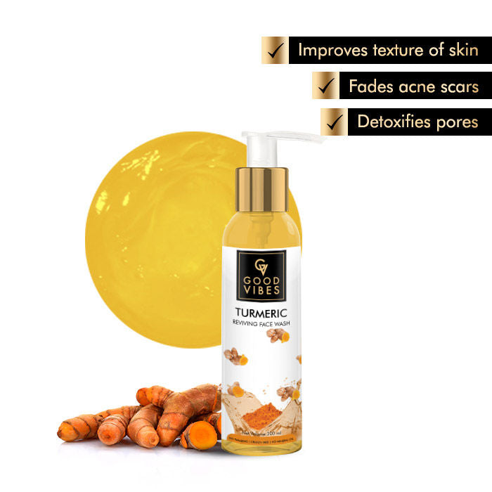 Good Vibes Reviving Face Wash - Turmeric (200 ml)