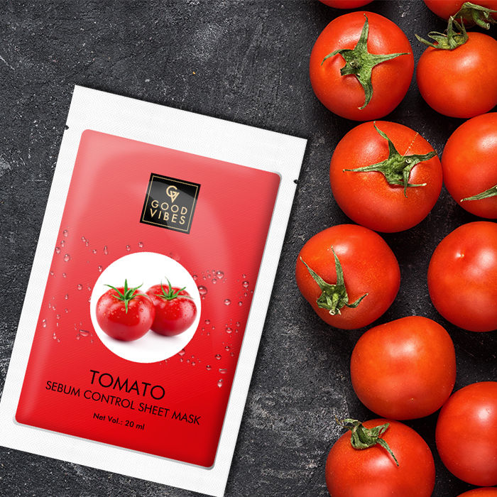 Good Vibes Sebum Control Sheet Mask - Tomato (20 ml)