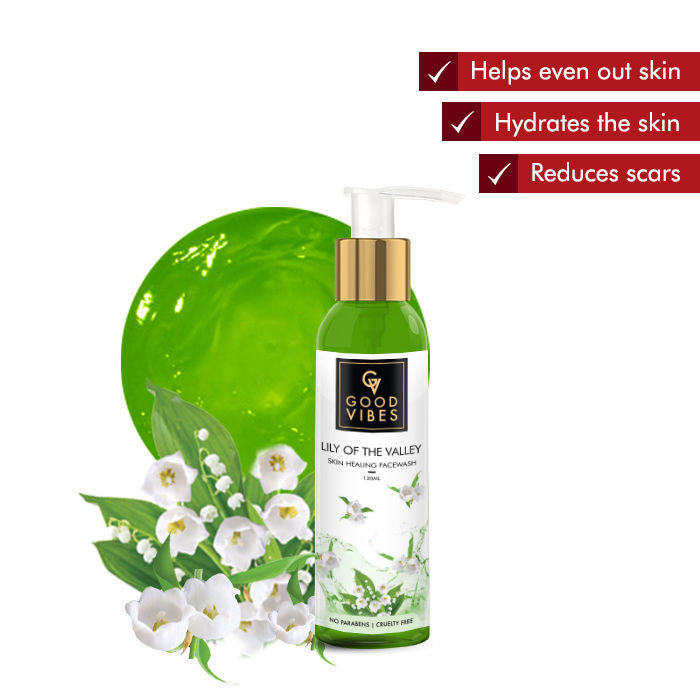 Good Vibes Skin Healing Face Wash - Lily of the Valley (120 ml)