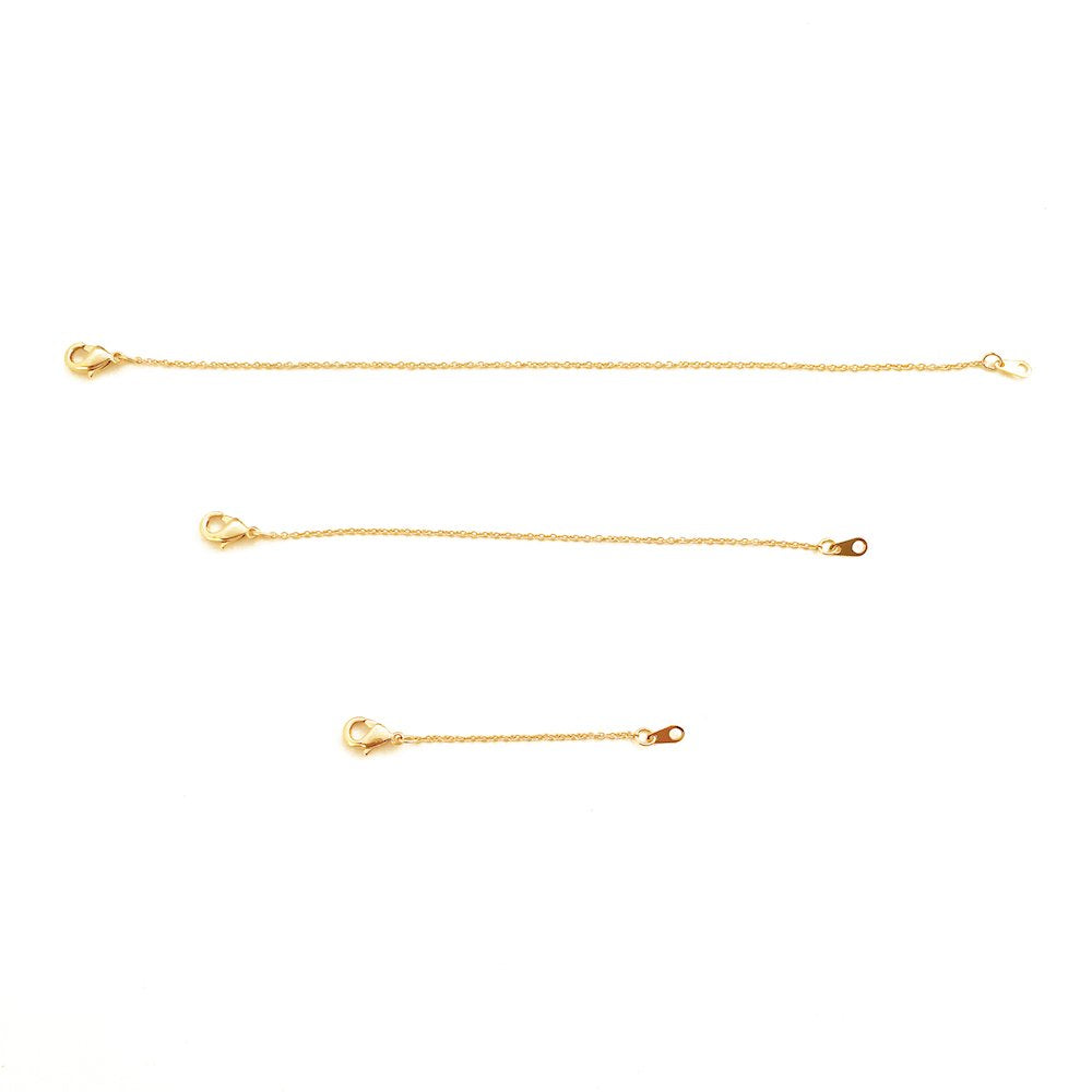 "HONEYCAT Delicate Necklace Extender Set 2"", 4"", 6"" in 24k Gold Plate, 18k Rose Gold Plate, or Silver"
