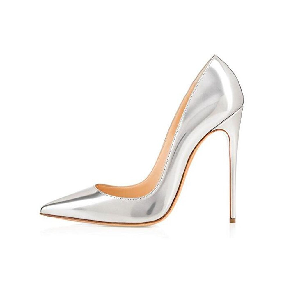 Elisabet Tang High Heels, Womens Pointed Toe Slip on Stilettos Party Wedding Pumps Basic Shoes