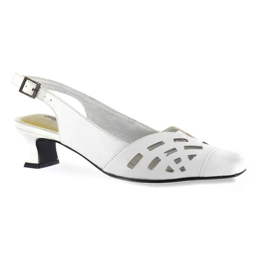 Easy Street Womens Adorable Leather Square Toe Special Occasion Slingback San.