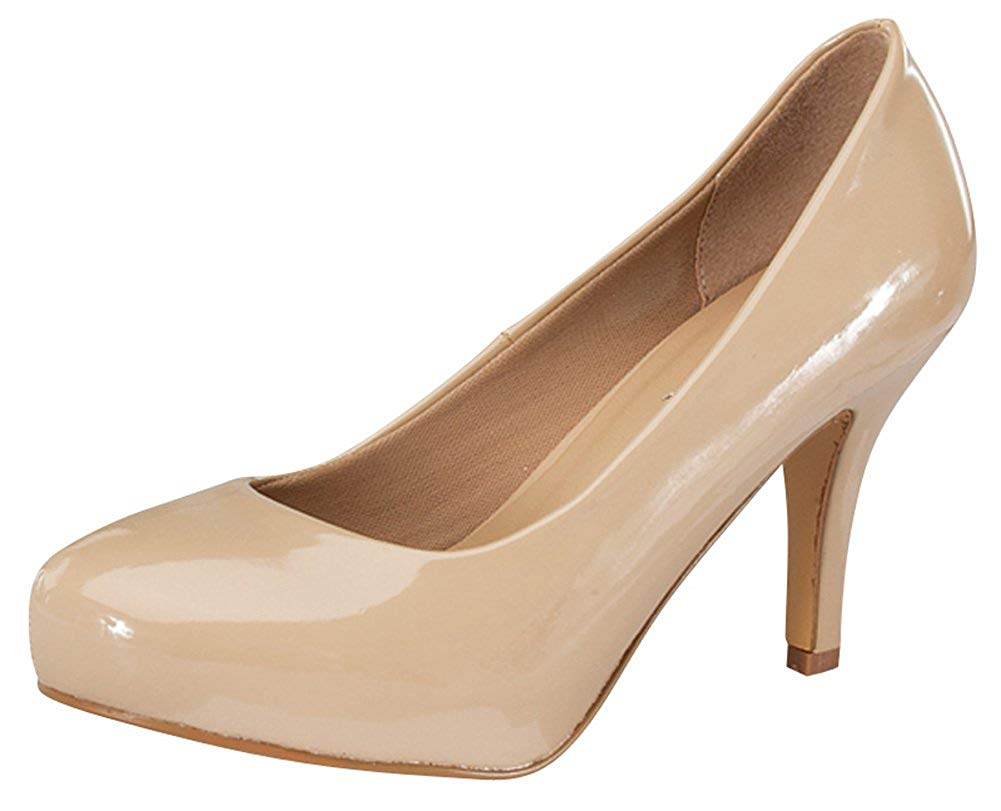 Delicacy Women's Classic Closed Toe High Heel Pump