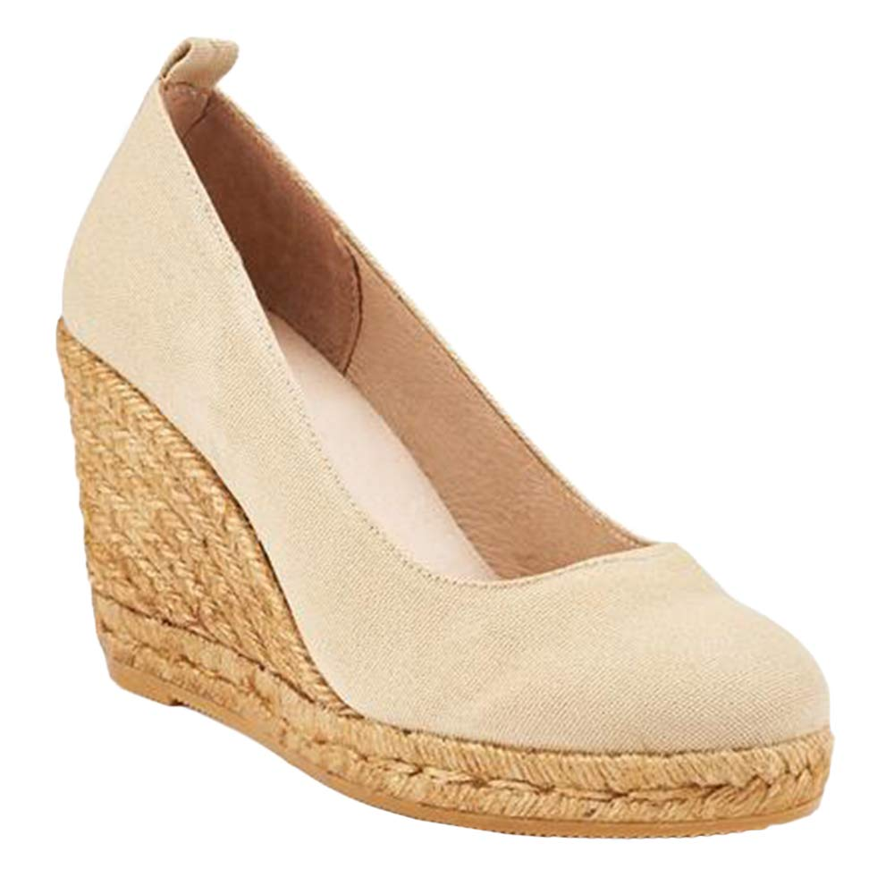 Seraih Womens Close Toe Espadrille Wedge Heel Sandals Fashion Summer Sandal Shoes