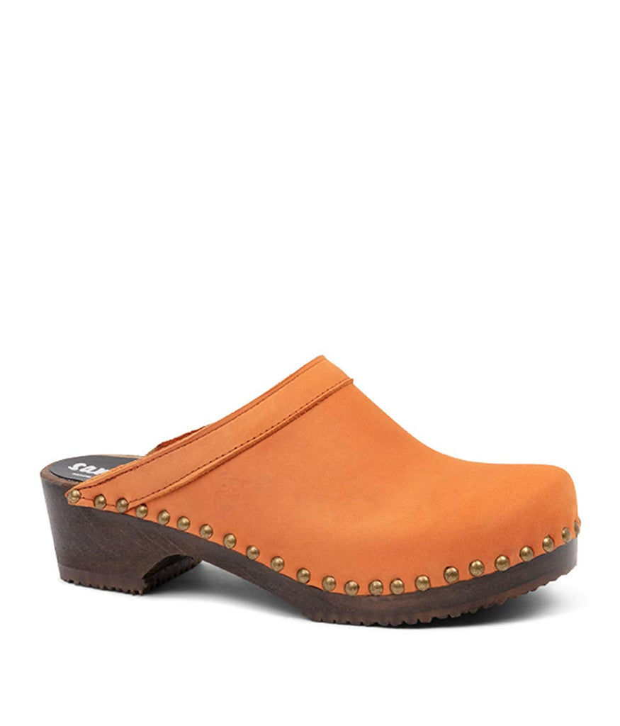 Sandgrens Swedish Low Heel Wooden Clog Mules for Women | Athens
