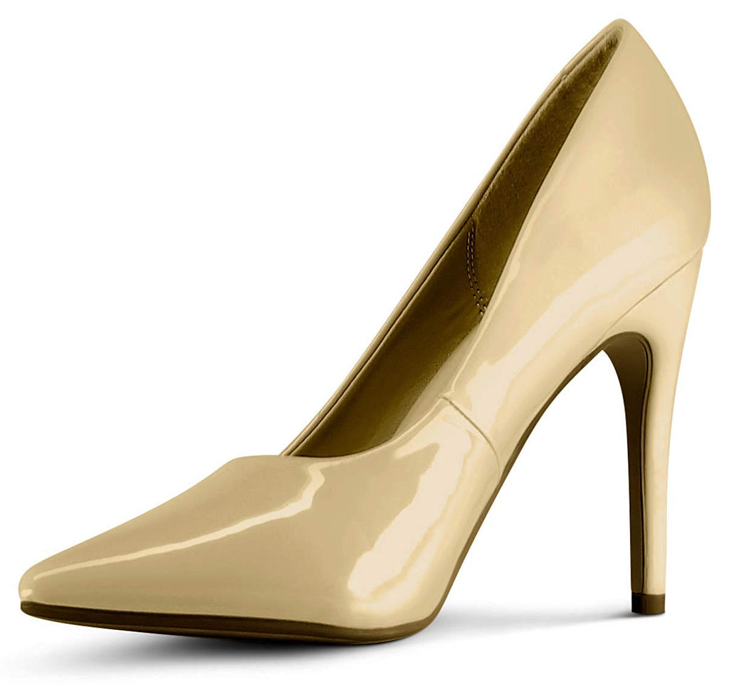 Wide-Fit Womens Pointy Toe High Heels Stiletto Dress Pumps