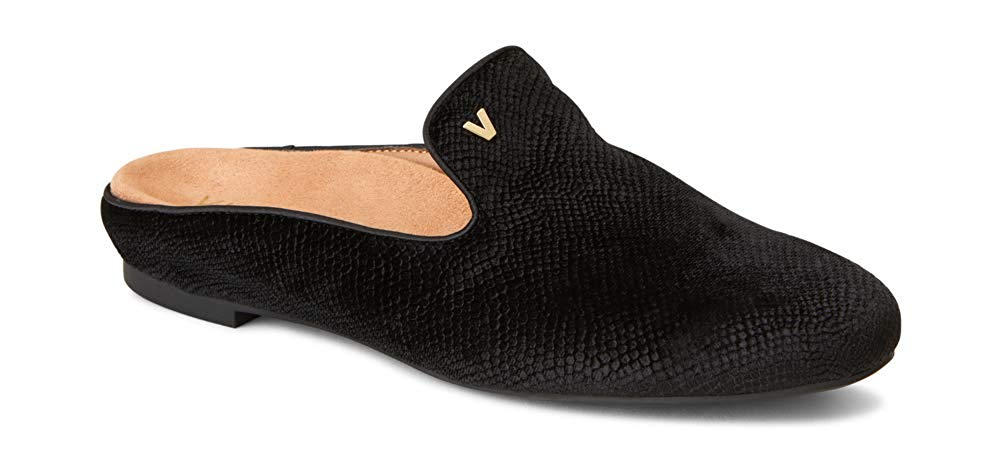 Vionic Women's Snug Carnegie Holiday Mule - Ladies Slip-on with Concealed Orthotic Arch Support