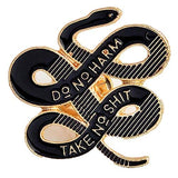 Janedream Women Bohemian Snake Brooch Banquet Badge Pins Buckle Badge Backpack Bag Pins Punk