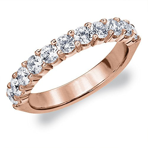 1.0 CTTW Destiny Lab Grown Diamond Wedding Ring in 14K Gold, Sparkling in F-G Color and VS Clarity