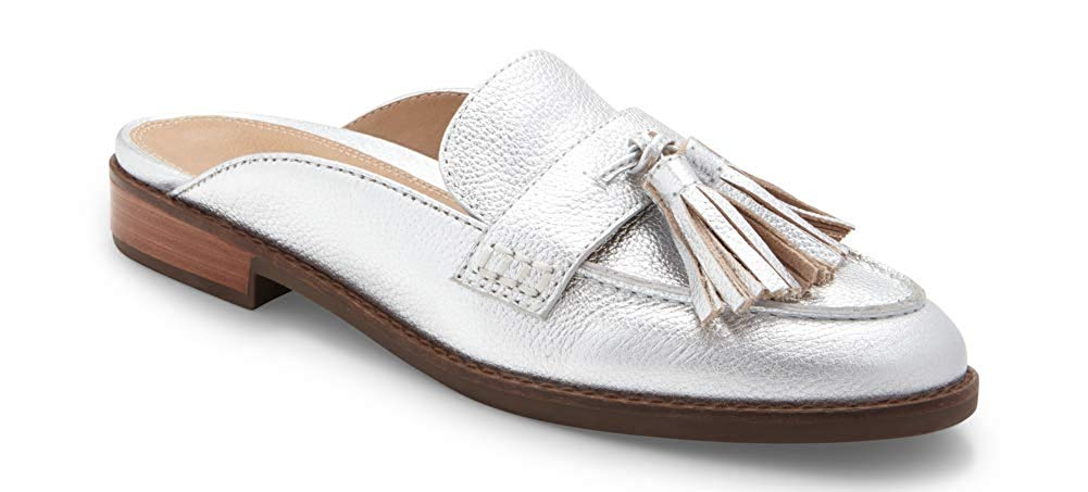 Vionic Women's Wise Reagan Mule with Tassels - Ladies Backless Slide with Concealed Orthotic Support