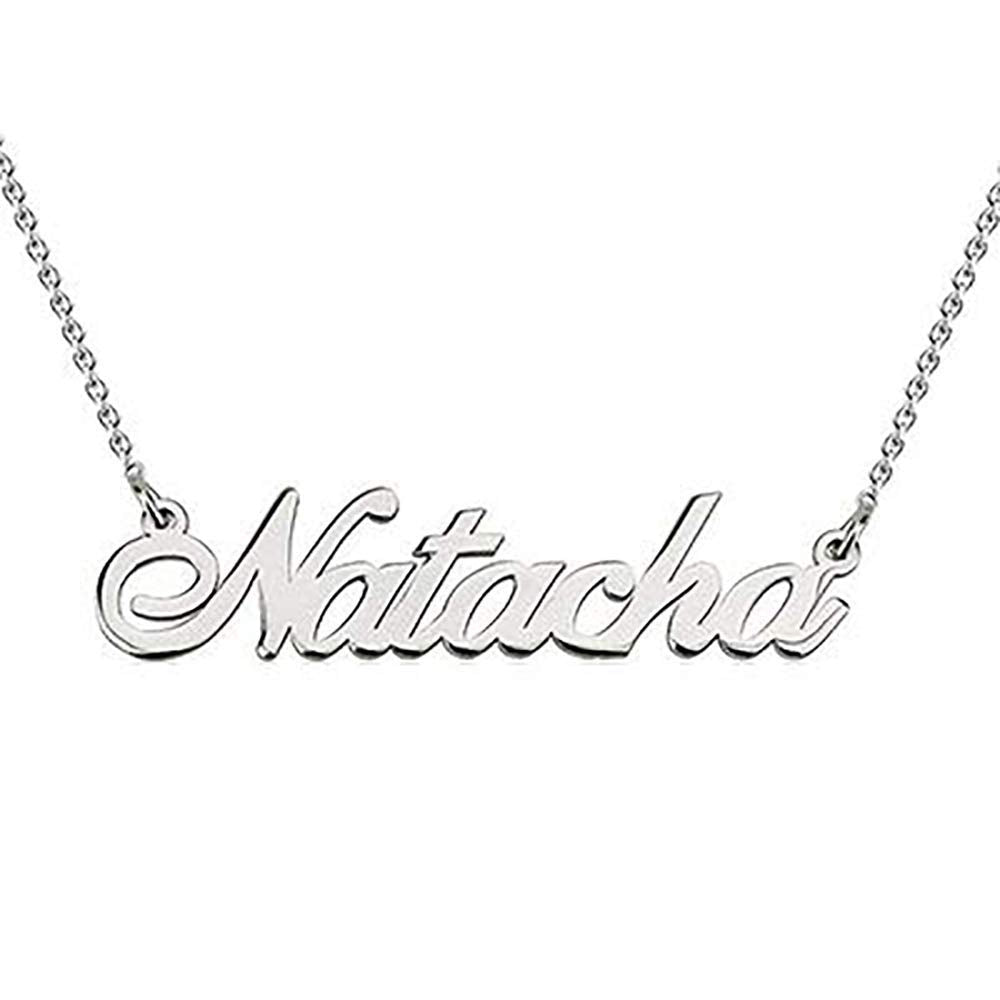 HACOOL 925 Sterling Silver Personalized Name Necklace Customized with Name Adjustable Chain