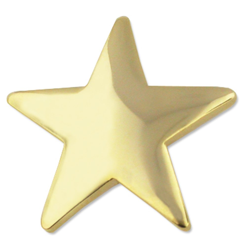 PinMart Classic Shiny Gold Star Military Recognition Lapel Pin
