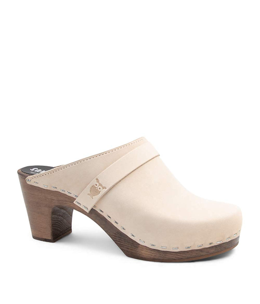 Sandgrens Swedish Clog Mules High Rise Wooden Heel for Women | Maya