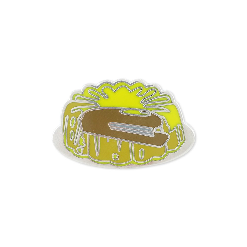 Stapler In Jello Hard Enamel Lapel Pin