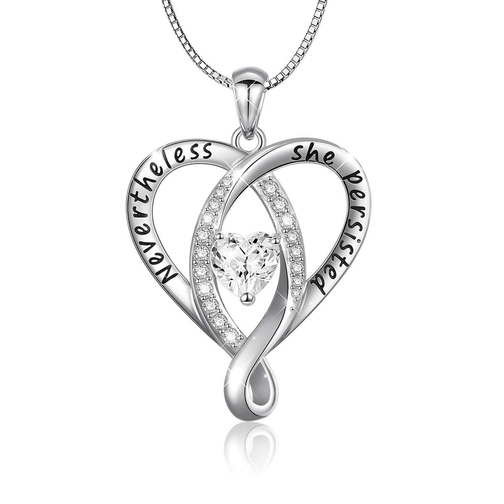 "925 Sterling Silver Jewelry Engraved""I Love You To The Moon and Back"" Love Heart Pendant Necklace"