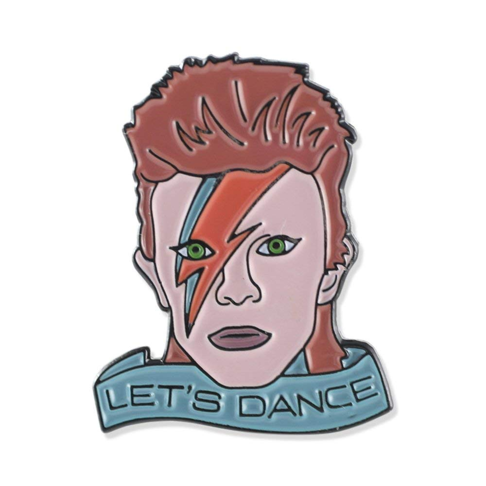 Wizard Pins David Bowie Let's Dance Tribute Enamel Lapel Pin