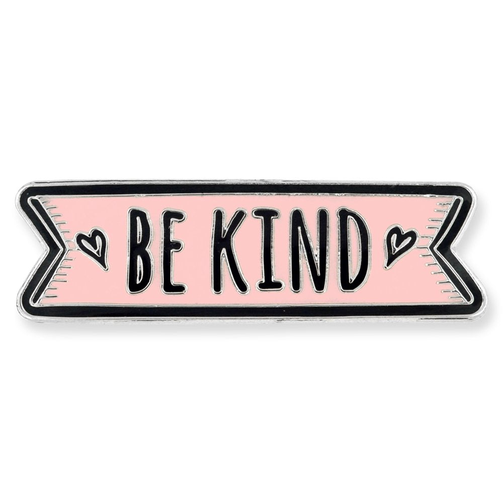PinMart Pink Be Kind Motivational Cute Enamel Lapel Pin