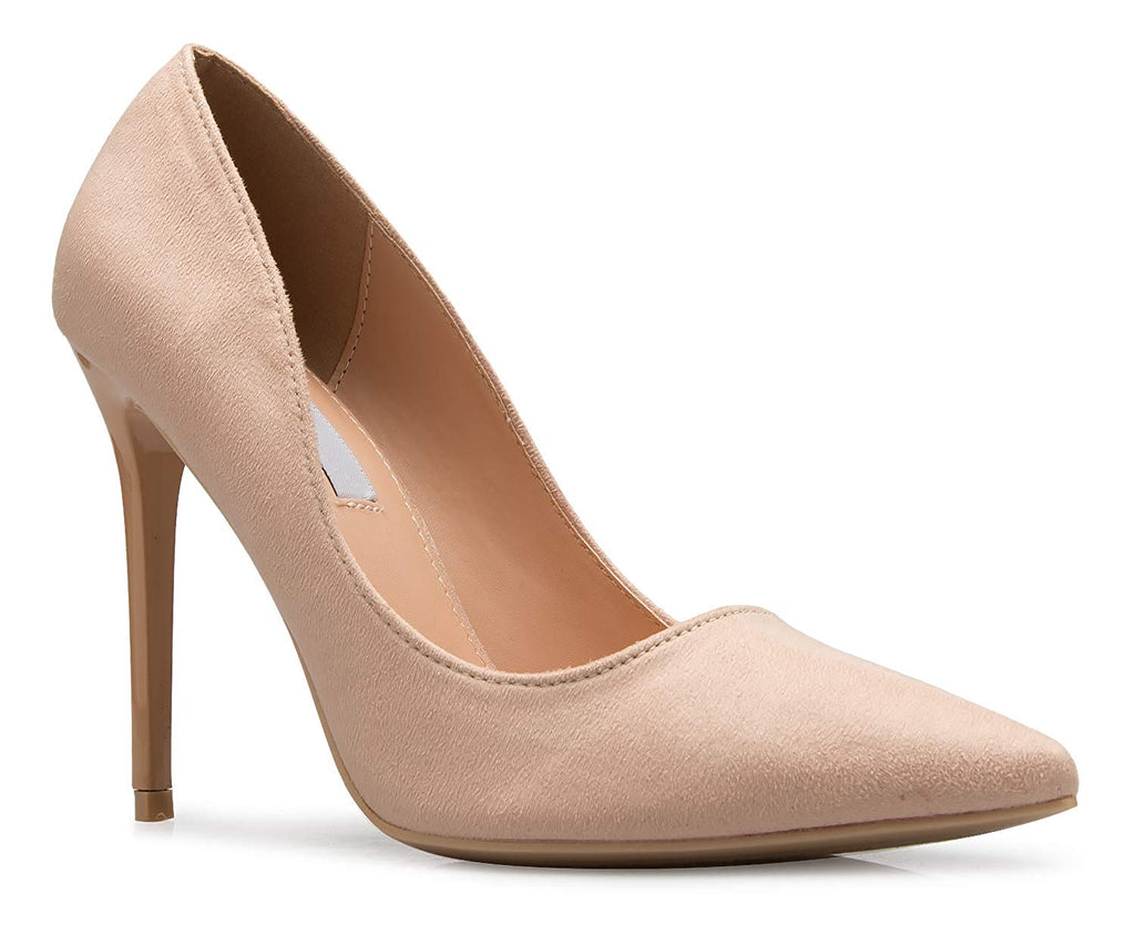 OLIVIA K Women's Classic D'Orsay Closed Toe High Heel Pump - Casual Comfortable