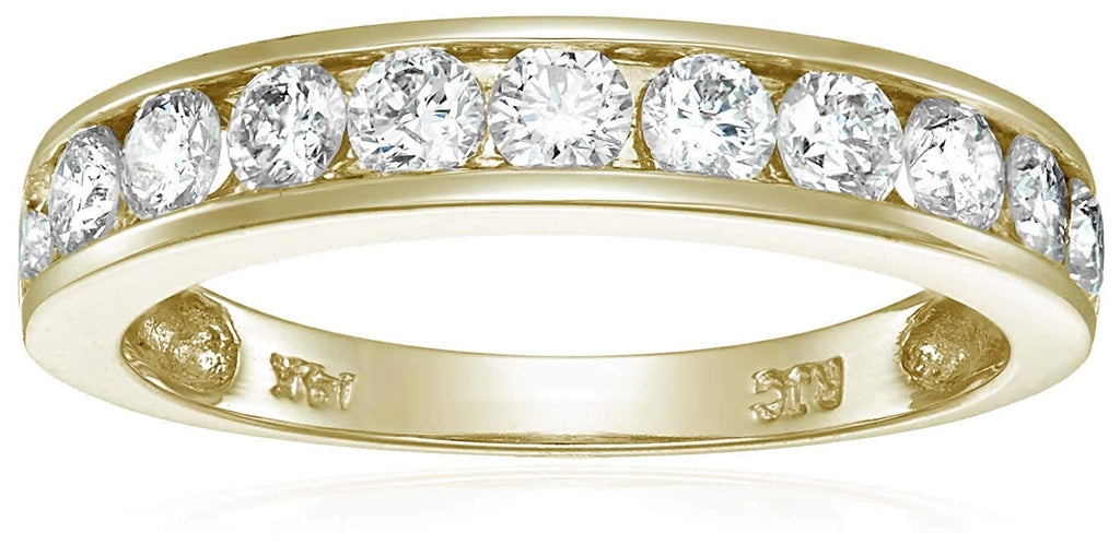 1 cttw Certified Diamond Wedding Band 14K White or Yellow Gold I1-I2 Clarity