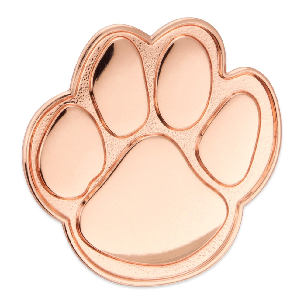 PinMart Copper Animal Paw Print School Mascot Lapel Pin