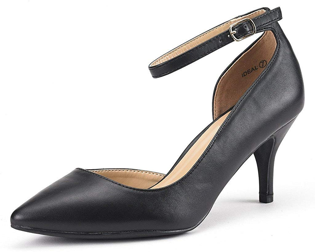 DREAM PAIRS Women's Ideal Low Heel Dress Pump Shoes
