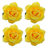 La Homein Sanrich 4pcs/Pack Fabric Rose Hair Flowers Clips Hairpin Brooch