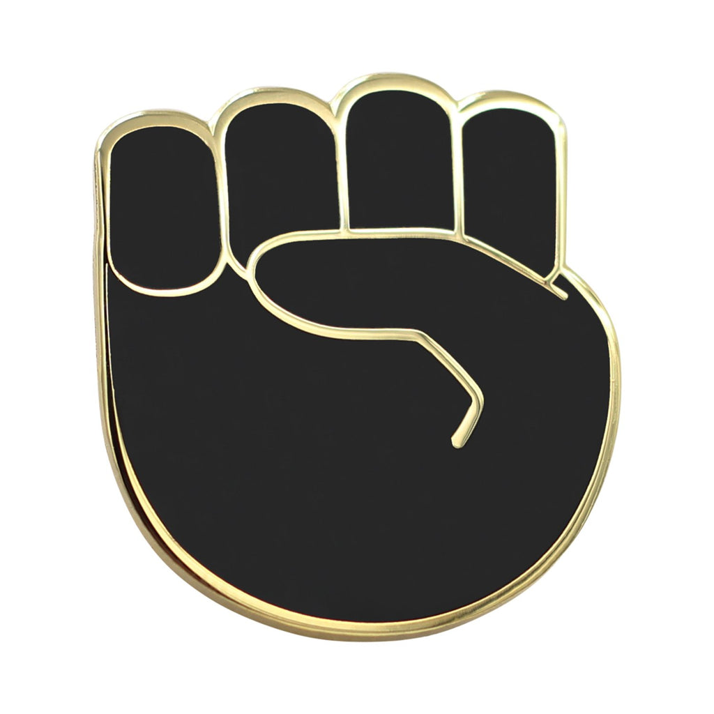 Real Sic Raised Fist Enamel Pin - Black Lives Matter Lapel Pin - Resist Protest Pin - BLM Pin for Jackets, Backpacks, Bags, Hats & Tops