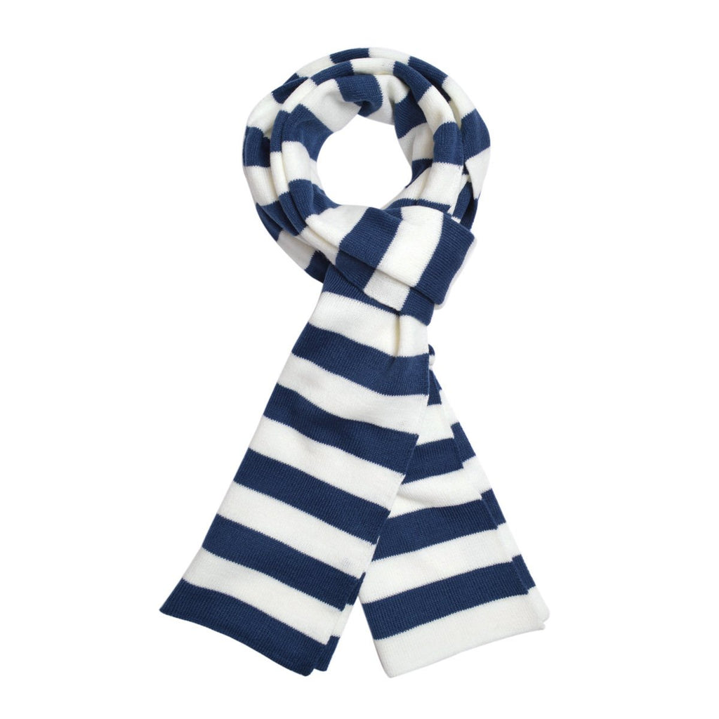 TrendsBlue Premium Soft Knit Striped Scarf - Different Colors Available