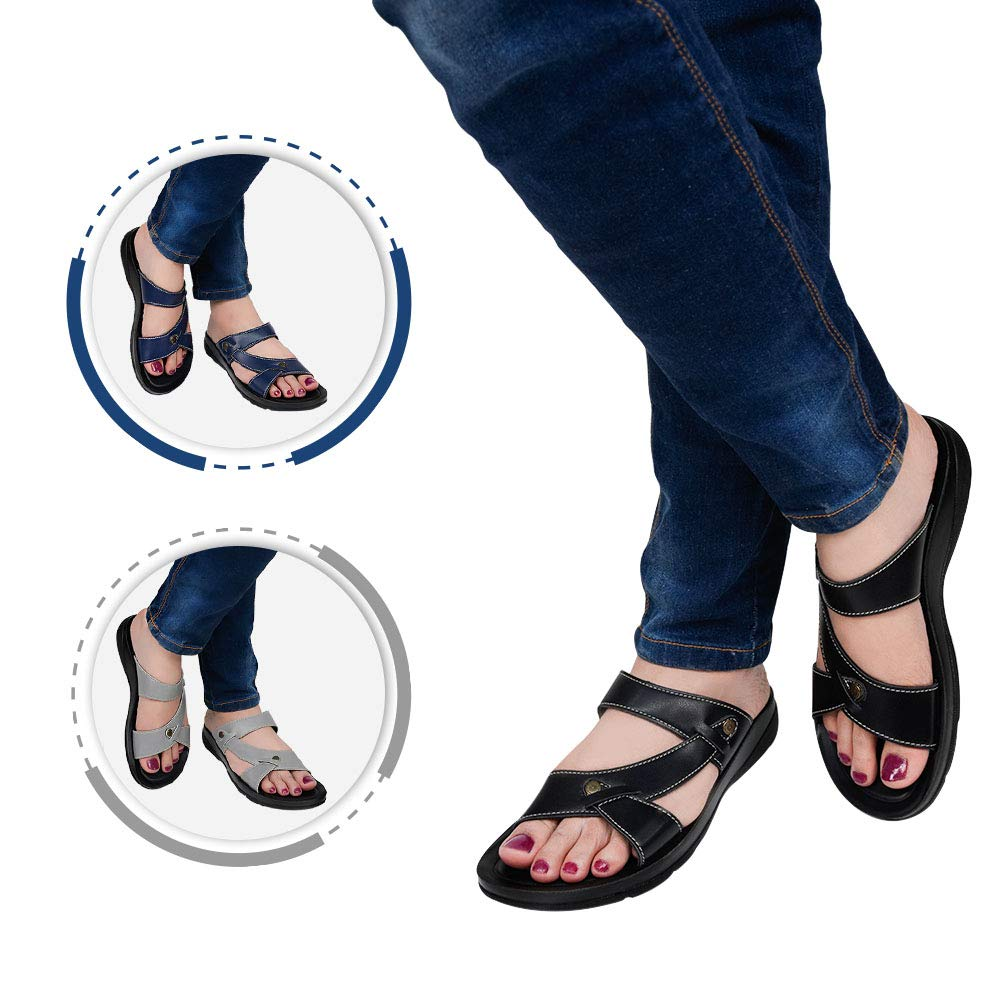 AEROTHOTIC Orthotic Comfort Slip On Sandals and Flip Flops with Arch Support for Comfortable Walk