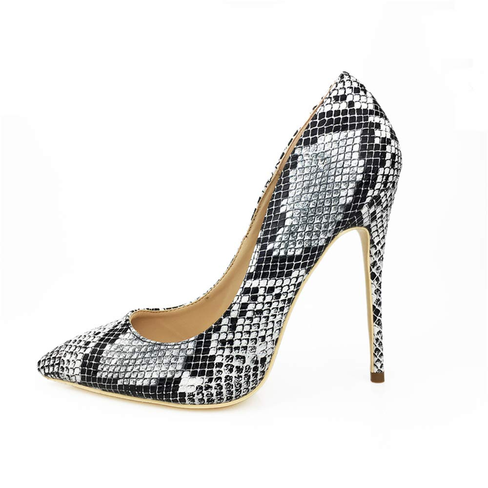 Miluoro Snake Printing Women High Heels Fashion Party Wedding Sexy Pumps Shoes