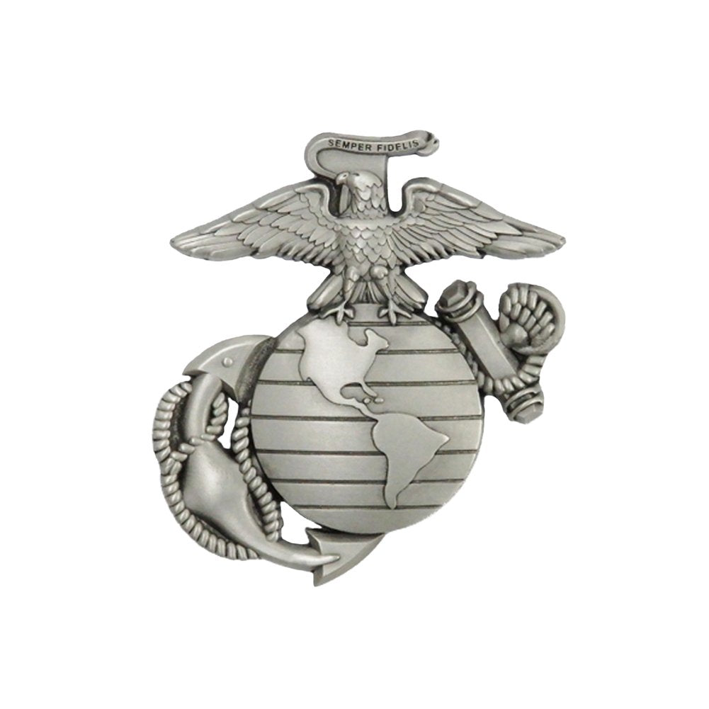 Indiana Metal Craft US Marine Corps EGA Solid Pewter Lapel Pin Made in USA.