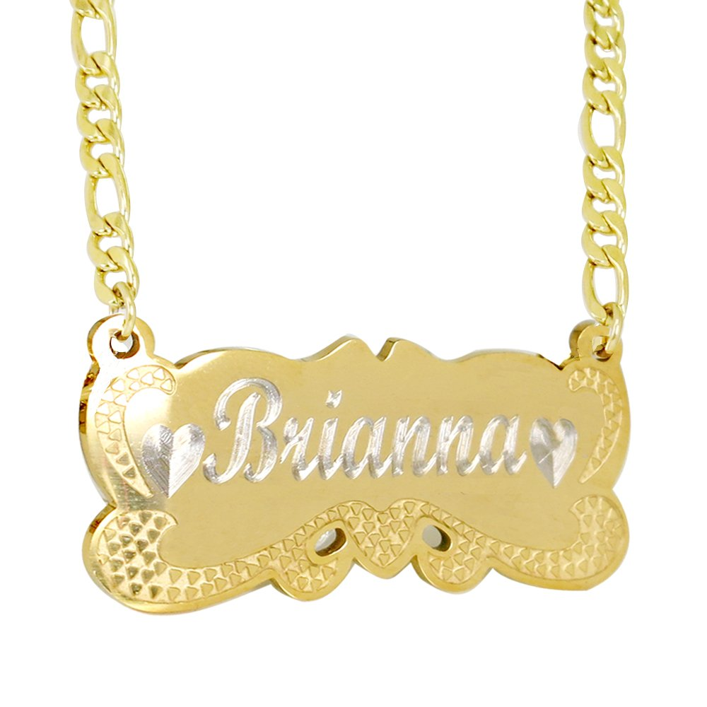 ProLuckis Handmade Personalized Name Jewelry Necklace 18k Gold Plated-Custom Made Any Name