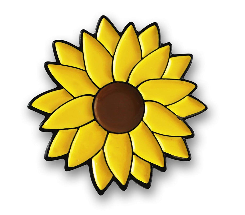 Yellow Sunflower Helianthus Lapel Pin