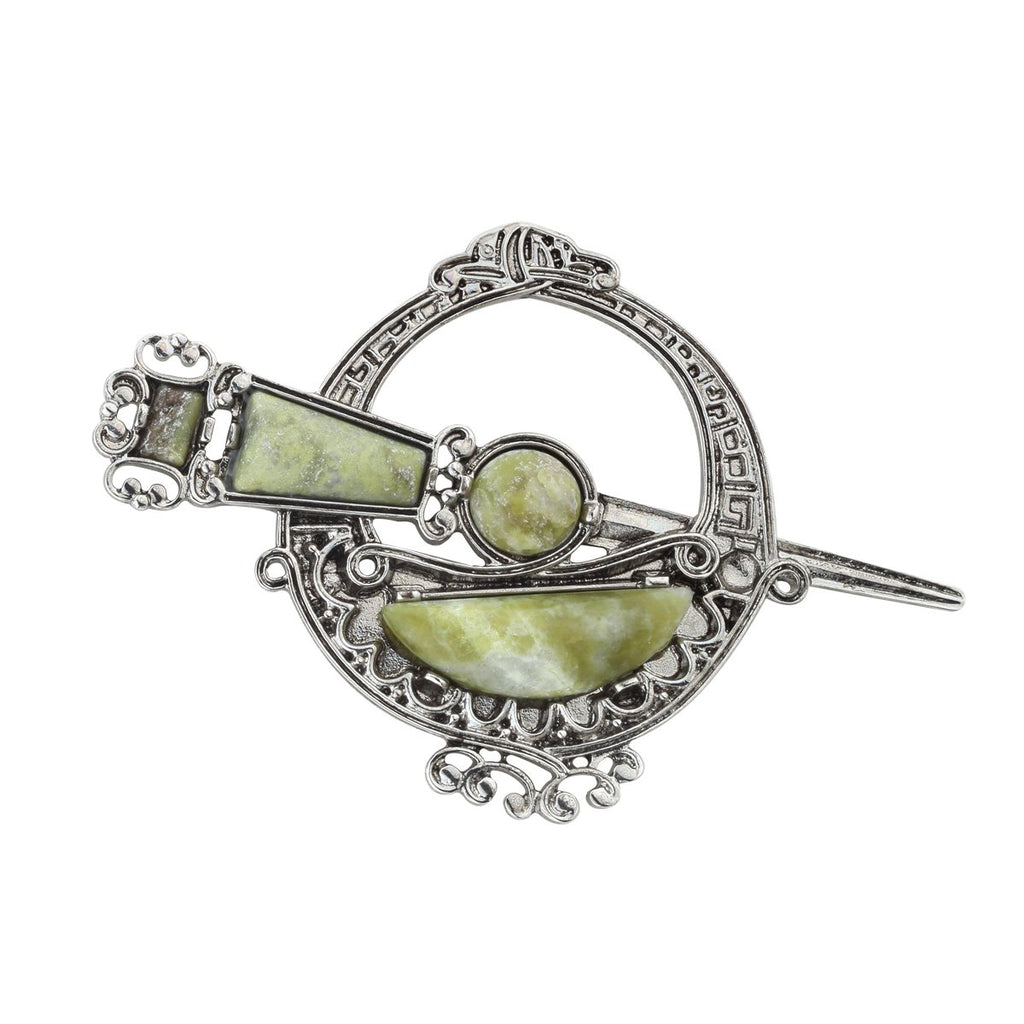 Tara Brooch Connemara Marble Made in Ireland