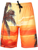 Men's Swim Trunks Quick Dry Big and Tall Hawaii Printed Beach Board Shorts