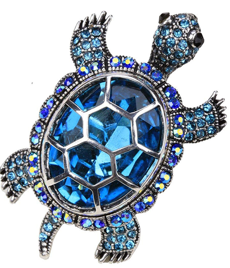 YACQ Women's Crystal Big Turtle Pin Brooch Pendant Halloween Costume Jewelry Accessories