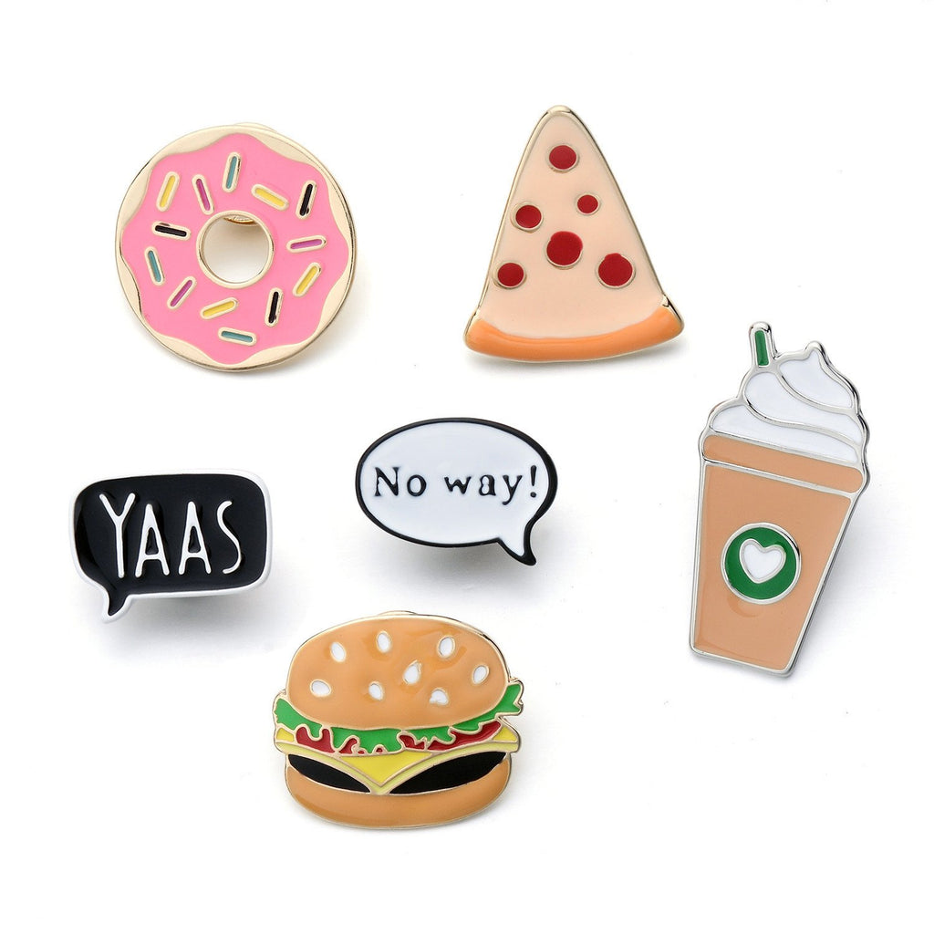 Dragon Fashion Womens Girls Cartoon Enamel Lapel Pin Set Cute Patches Pins Badge for Clothings