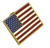 American Flag Lapel Pin PROUDLY MADE IN USA-- Gold Plated Rectangle Bulk