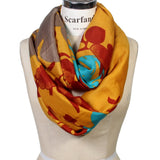 Scarfand's Vibrant Colored Artistic Painting & Graphic Print Infinity Fashion Scarf
