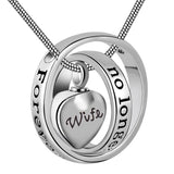 Eternally Loved No Longer by My Side,Forever in My Heart Carved Locket Cremation Urn Necklace for mom & dad
