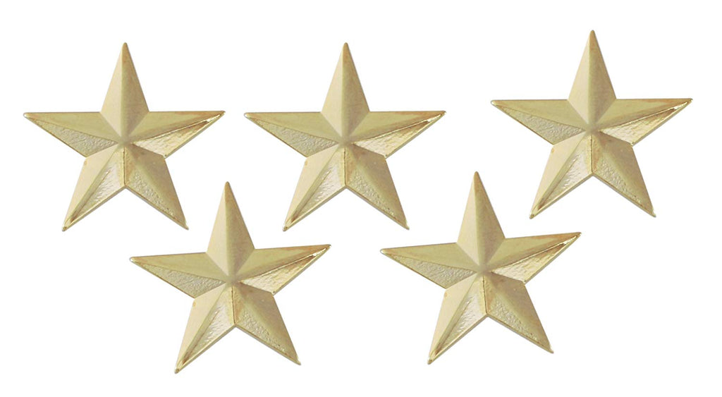 3D 5 Point Gold Star Lapel Pin