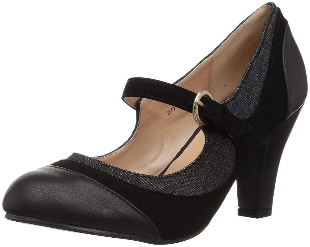Brinley Co. Womens Tweed Two-Tone Mary Jane Pump
